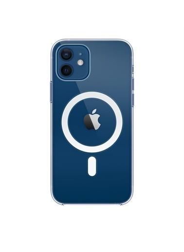 Apple iPhone 12   12 Pro için MagSafe özellikli Şeffaf Kılıf Renksiz